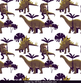 dinosaur pattern template cartoon characters repeating design