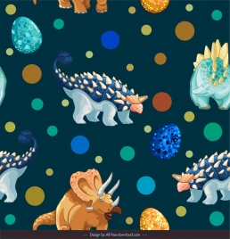 dinosaurs pattern colorful repeating decor