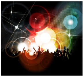 disco party abstract background