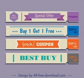 discount voucher templates elegant classical horizontal shapes