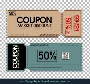discount voucher templates flat classic design