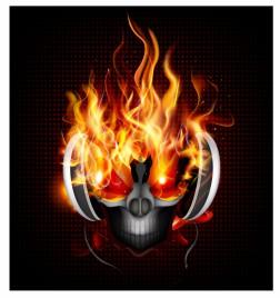 DJ fire skull