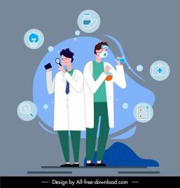 doctor job inforgraphic background clinic elements cartoon design