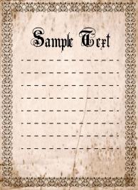 document border template grunge vintage seamless design