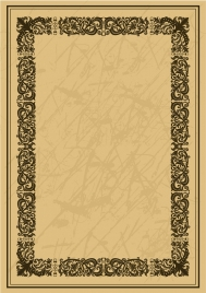 document border template seamless decoration classical style