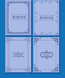 document border templates classical symmetric design