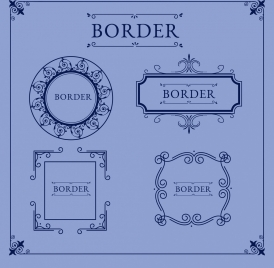 document borders templates retro design symmetrical ornament