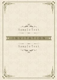document cover template classical elegant decoration