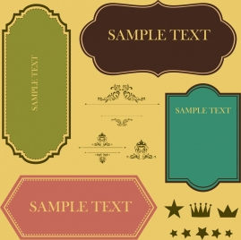 document decor design elements various classical flat types