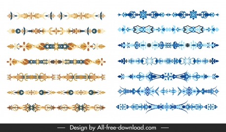 document decor elements colored traditional symmetric design