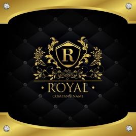 document decoration template luxury royal style golden decor