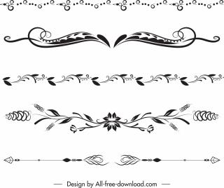 document decorative elements classical symmetrical curves decor