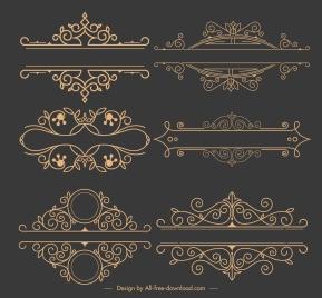 document decorative elements elegant retro symmetric design