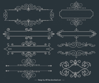 document decorative elements symmetric classic elegant european design