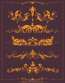 document decorative elements symmetrical elegant swirled decor