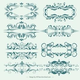 document decorative templates elegant classical symmetric decor