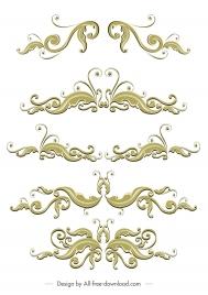 document decorative templates elegant classical symmetric swirled design