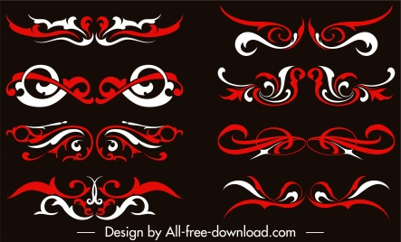 document decorative templates elegant formal symmetric curves