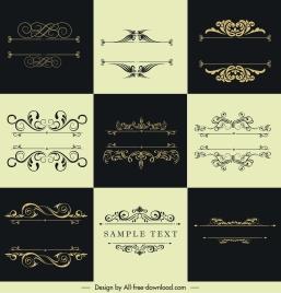 document decorative templates european classic elegant symmetric curves