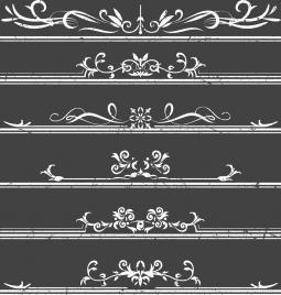 documents decorative design elements classical symmetric curves
