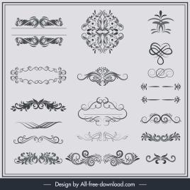 documents decorative elements classical european symmetric curves