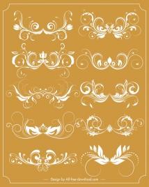 documents decorative sets classical symmetric curved sketch