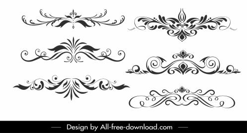 documents decorative templates classical symmetric curves