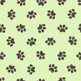 dog foot prints background repeating design