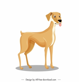 dog icon cartoon character sketch standing gesture