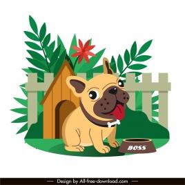 doggy painting cute cartoon sketch