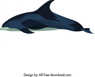 dolphin animal icon colored cartoon sketch