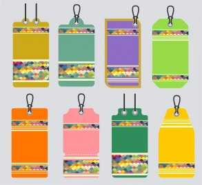 draft labels collection colorful background design