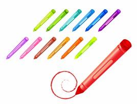 Drawing crayons