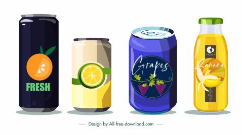 drink label templates fruit sketch flat sign