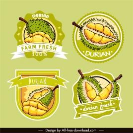 durian label templates flat bright classic decor