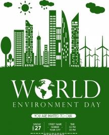 eco banner green design city icon
