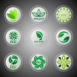 eco icons design with circle style