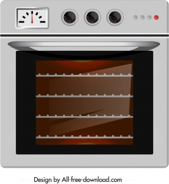 electronic microwave icon shiny colored modern sketch
