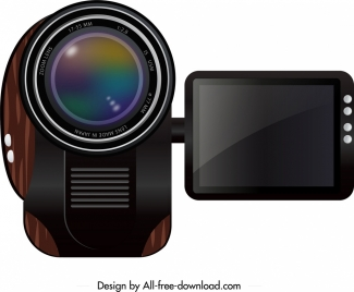 electronic movie camera icon elegant modern design