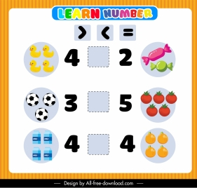 elementary math learning background bright colorful cute decor