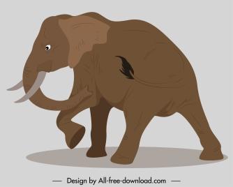 elephant painting motion sketch classic handdrawn cartoon