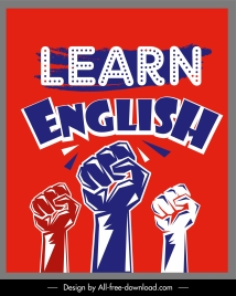english learning poster arms fists sketch