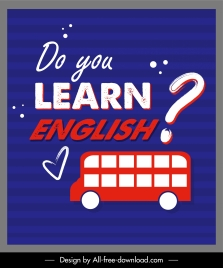 english study poster bus text question mark sketch