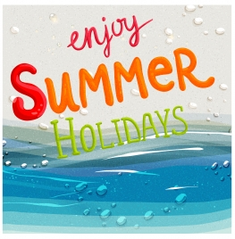 enjoy summer holiday background
