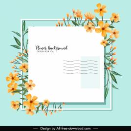 envelope background template elegant botanical decor