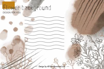 envelope cover background elegant vintage handdrawn floral decor