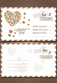 envelope template valentine day decoration classical style