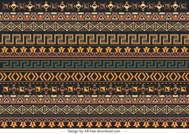 ethnic pattern classic repeating decor horizontal layout
