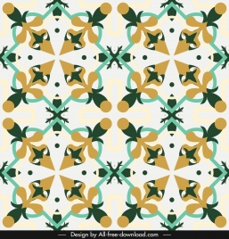 european pattern template colorful flat repeating symmetric illusion