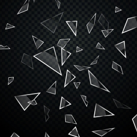 explosive glass background transparent geometric decor
